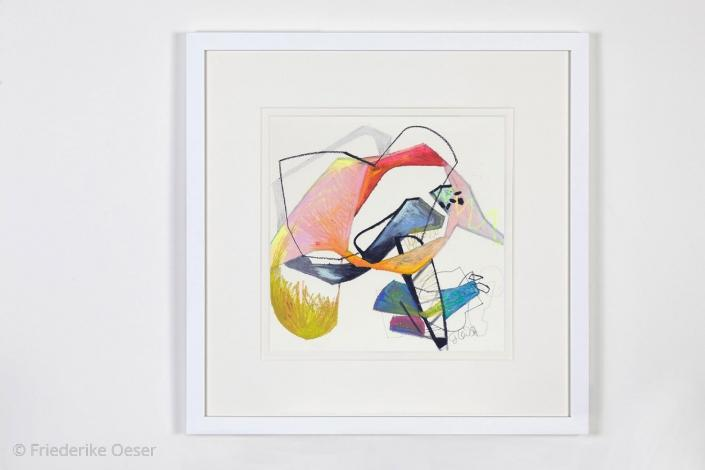 IMAGINATION KA 2 / Ölpastell, Zeichenkarton / 40 x 40 cm / 15.7 x 15.7 inches